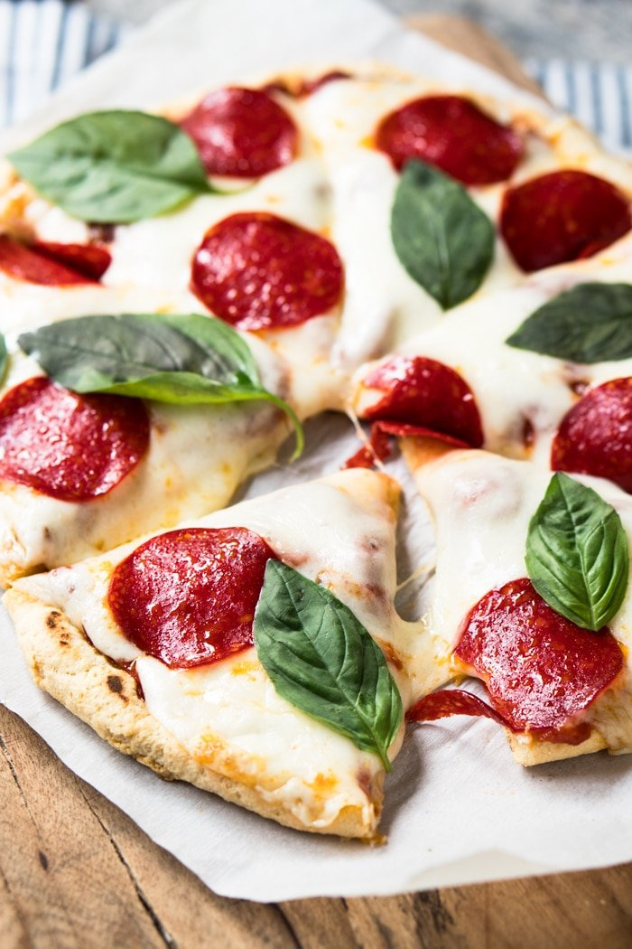 Stove-Top Gluten Free, Dairy Free & Keto Pizza Crust  #keto #ketorecipes #lowcarb #dairyfree #glutenfree #pizza  #healthyrecipes