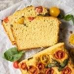 Gluten Free, Paleo & Keto Savory Zucchini Bread 🍞 #keto #ketodiet #lowcarb #paleo #glutenfree #ketobread #healthyrecipes #zucchini