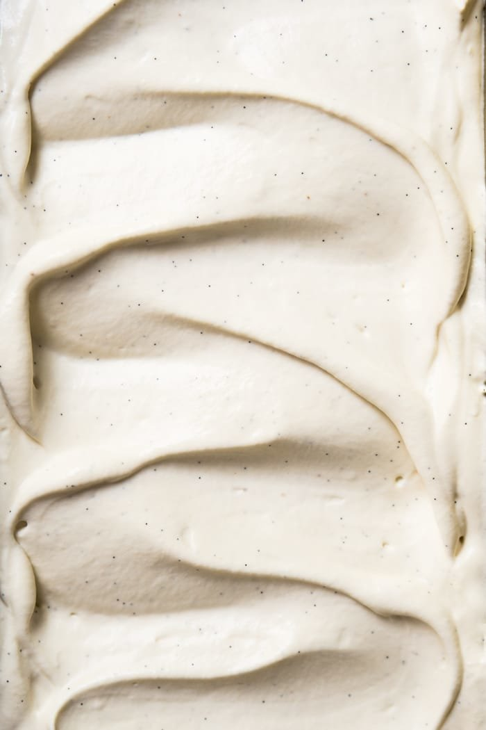 Closeup showing super creamy texture of the paleo frozen yogurt