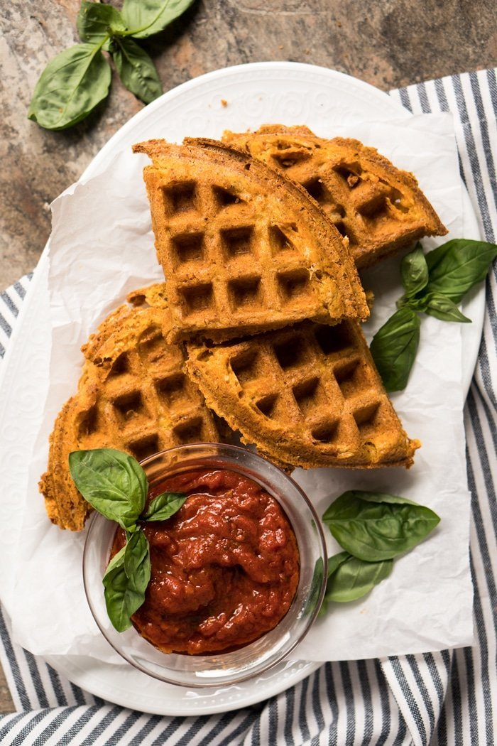 (1g net carb!) Gluten Free, Low Carb & Keto Grilled Cheese Waffles #keto #glutenfree #lowcarb #healthyrecipes #waffles #grilledcheese