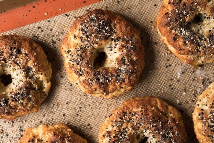 Gluten Free, Paleo & Keto Bagels #keto #lowcarb #glutenfree #paleo #healthyrecipes #bagels #dairyfree #ketorecipes #ketodiet