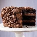 Gluten Free, Paleo & Keto Chocolate Cake #keto #lowcarb #glutenfree #paleo #healthyrecipes #chocolate #ketodessert #cake #ketorecipes #ketodiet