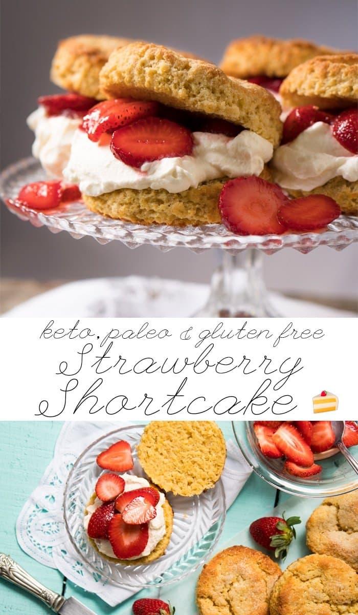 Gluten Free, Paleo & Keto Strawberry Shortcake #keto #lowcarb #dairyfree #paleo #healthyrecipes #strawberryshortcake #ketodessert #glutenfree #ketorecipes #ketodiet