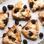 Gluten Free, Paleo & Keto Blackberry Scones #keto #lowcarb #glutenfree #paleo #healthyrecipes #scones #ketodessert #ketorecipes #ketodiet