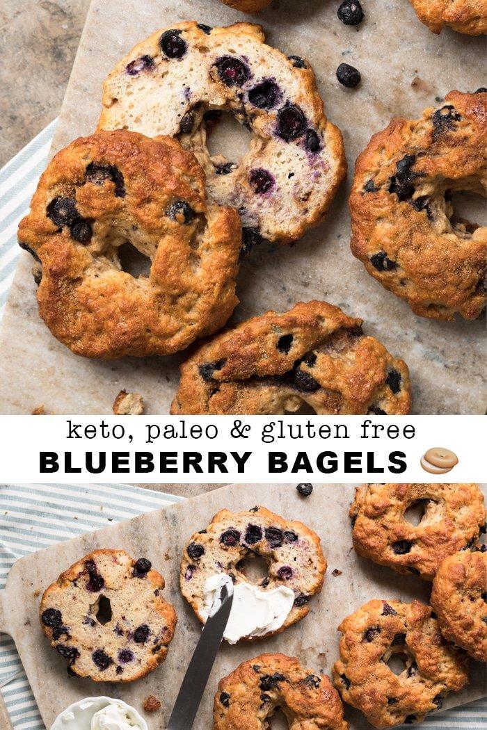 gluten free paleo keto blueberry bagels gnom gnom