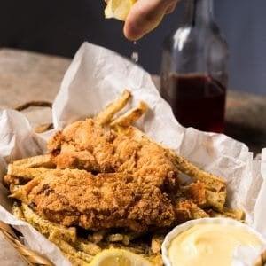 Gluten Free & Keto Fish And Chips #keto #ketorecipes #lowcarb #glutenfree #healthyrecipes #fishandchips