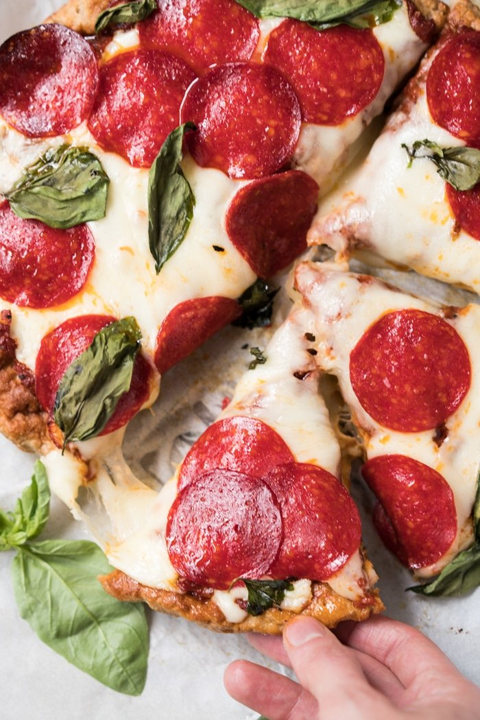 Gluten Free, Paleo & Keto Pizza Dough #keto #lowcarb #healthyrecipes #dairyfree #glutenfree #paleo #pizza
