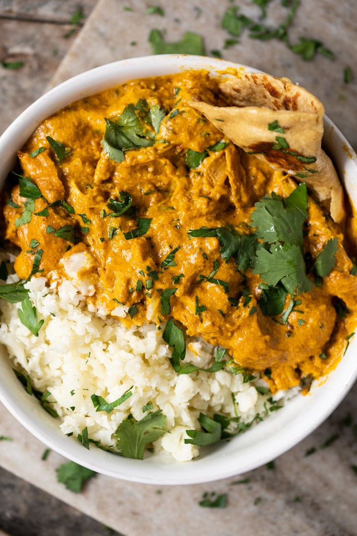 Paleo & Keto Butter Chicken With Naan