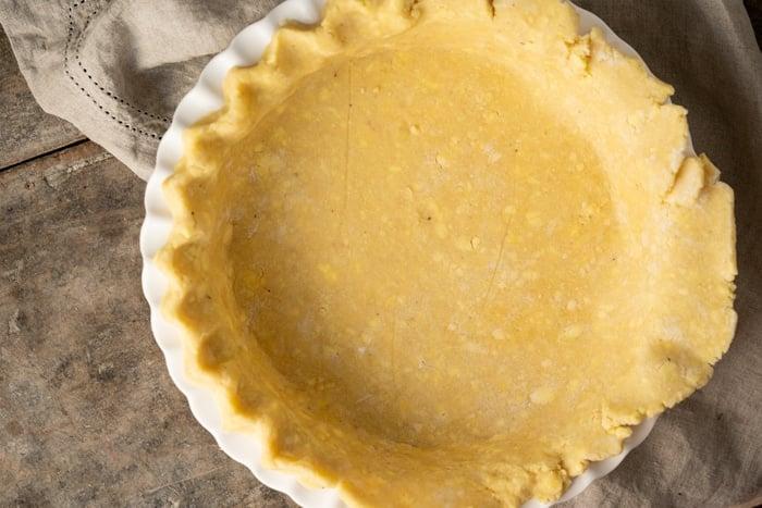 Crimping keto pie crust