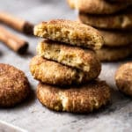 Gluten free & keto snickerdoodle cookies with an perfectly soft center