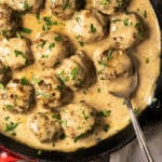 Traditional keto Swedish meatballs