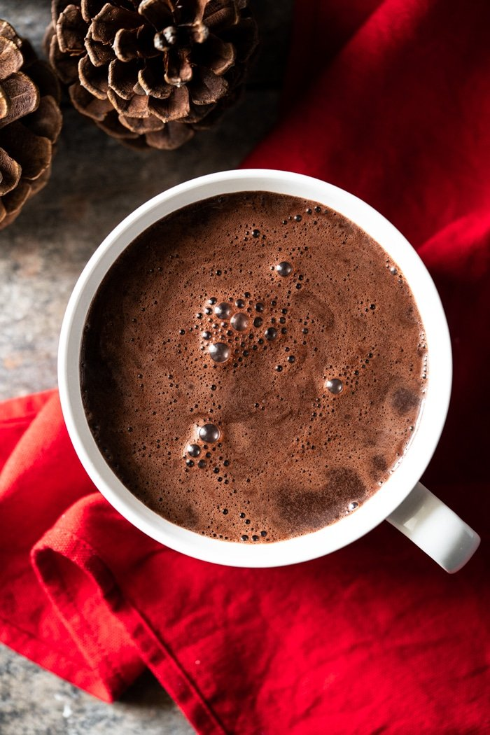 Paleo and Keto hot chocolate with almond milk