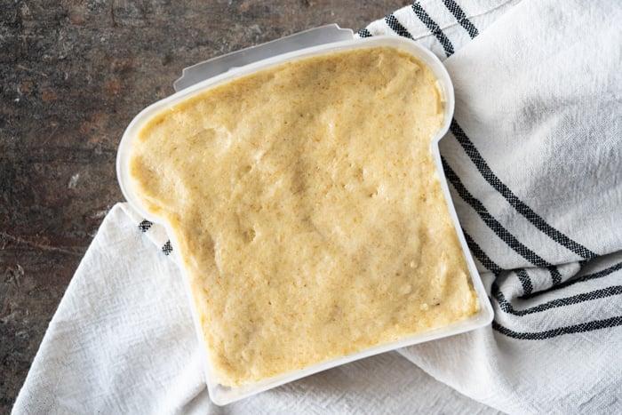 Uncooked 90 second keto bread dough