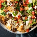 Low carb & keto nachos with grain free tortilla chips