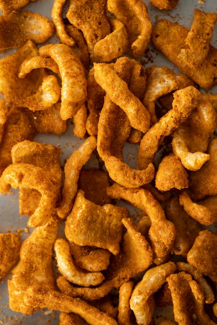 Keto Cheetos with pork rinds