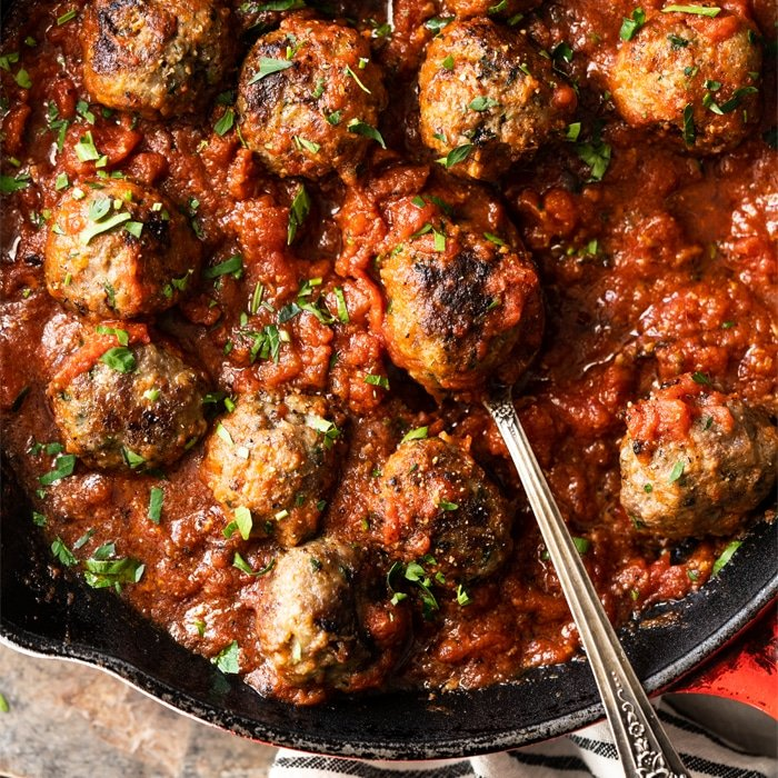Gluten Free & Keto Meatballs With Marinara Sauce