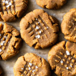 Sugar Free & Keto Peanut Butter Cookies With Flaky Sea Salt