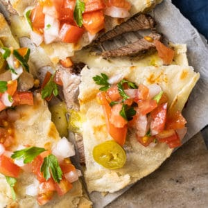 Gluten free & keto quesadillas with pico de Gallo salsa