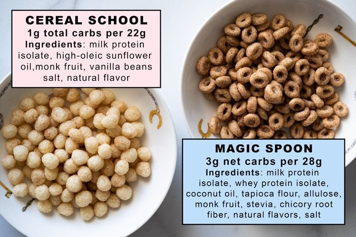 Comparing Cereal School and Magic Spoon keto cereals