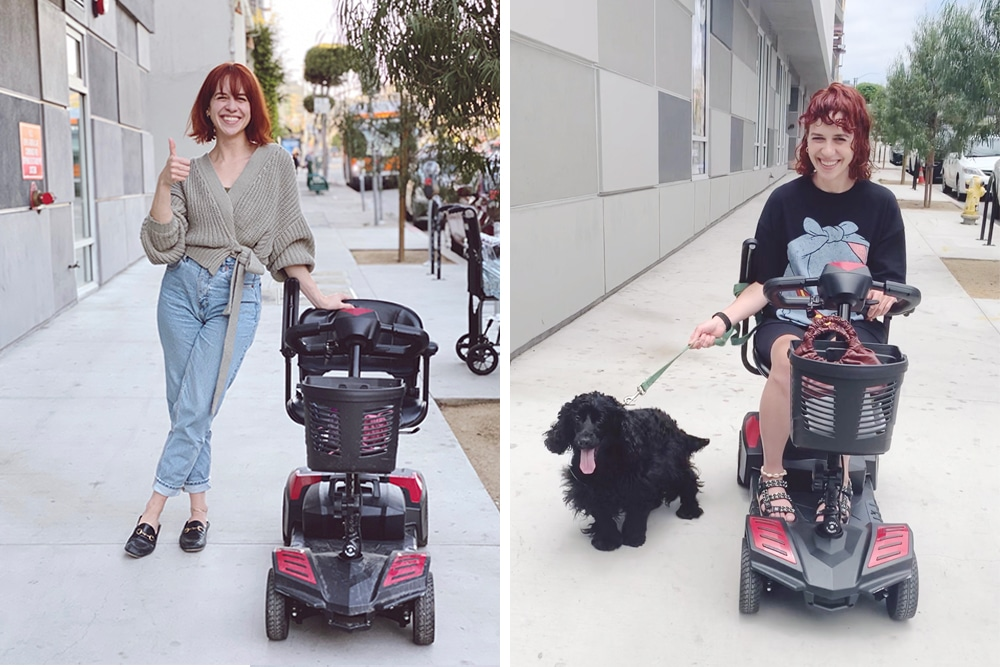 My before and after with my electric scooter
